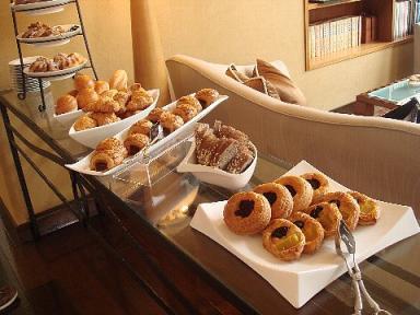 GH福岡クラブラウンジの朝食1