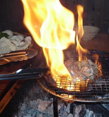 地鶏炭火焼