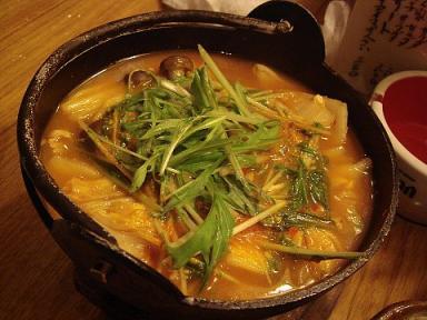 けん家のキムチ鍋
