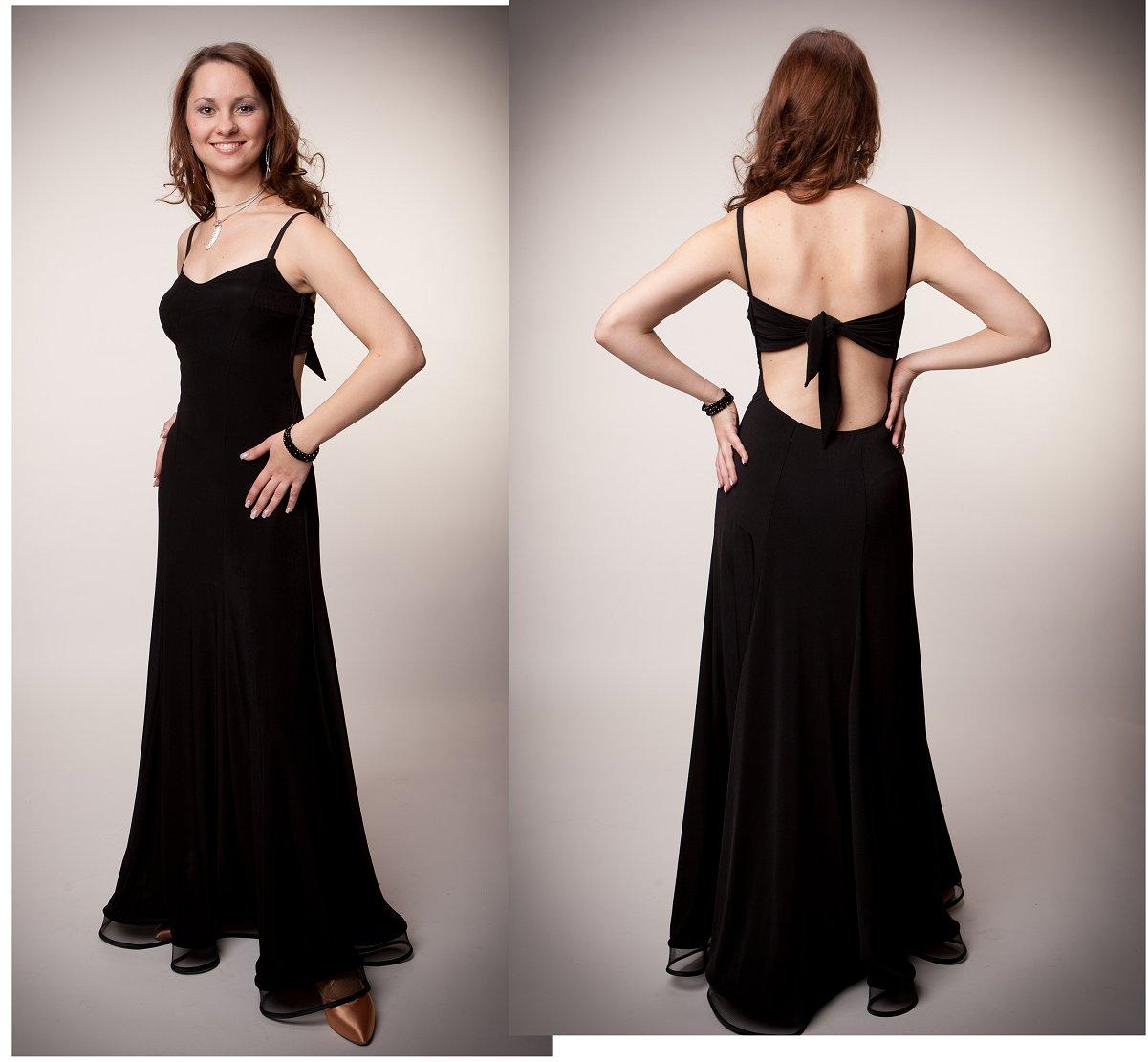 e4b31210576a5 黒のノースリーブのパーティまたは準正装用ドレス(サンドラデザイン ...