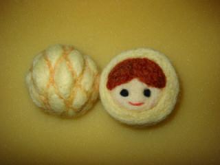 羊毛メロンパンの女の子