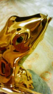 2本の剣さんのロイヤルコペンハーゲン・フィギュリン ゴールドフロッグ