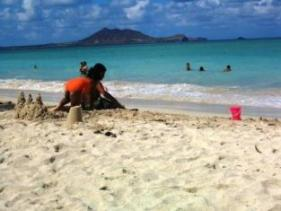kids at kailua beach