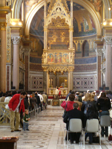 ラテラノ大聖堂のミサ
