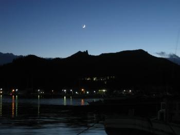 三日月山とお月さま(09/07/24)