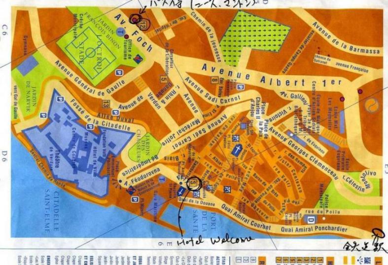 ヴィルフランシュ地図