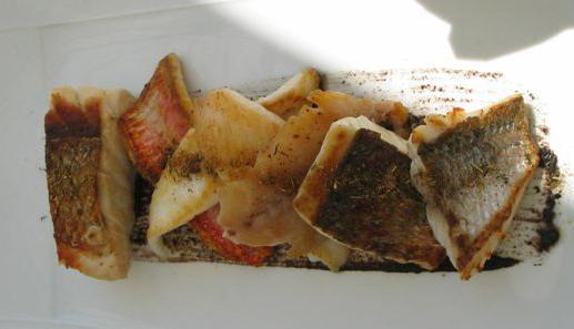 シェヴルドールのランチの魚