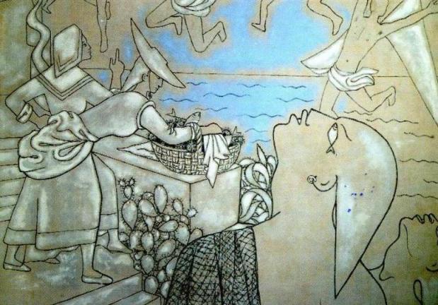 サンピエール教会壁画1