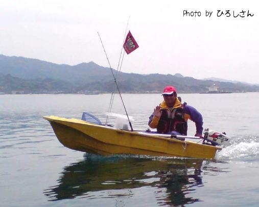 瀬戸内ミニボートクラブのOLM参加時の我が勇姿。