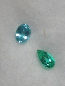 緑色のパライバトルマリン(ブラジル産 0.22ct.)