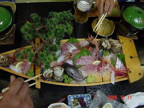 2009.10.11~12 『京福友の会』ツーリング 002(ご馳走)