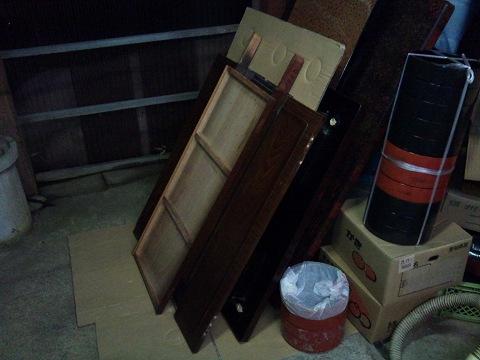 2012.01の画像01.12鏡台修理(鏡板)