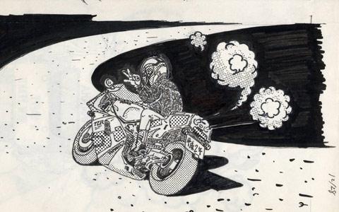 1990 年賀イラスト(3MA)その2
