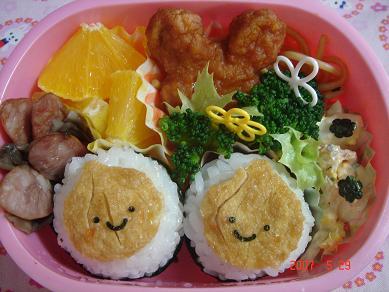 玉ねぎ堀りのお弁当 ~園児のお弁当~