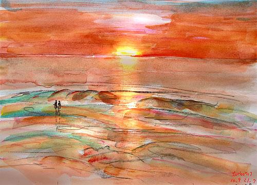 Praia de Fora_sunset 20:37- Fisterra,Spain