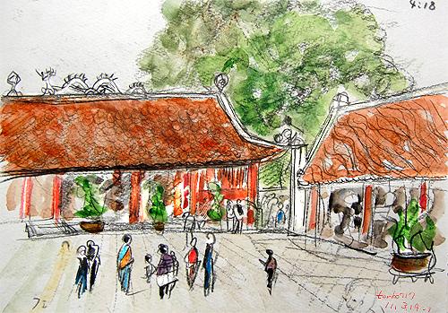 Van Mieu-Temple of litterature,Ha Noi-1,Vietnam