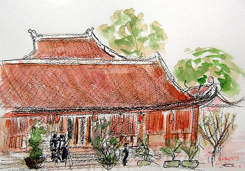 Van Mieu-Temple of litterature,Ha Noi-2,Vietnam