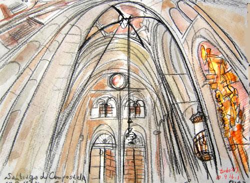 Santiago de Compostela-Cathedral-center, Spain