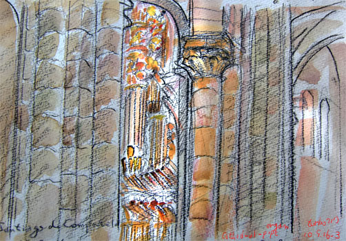 Santiago de Compostela-Cathedral-Pipe-Organ, Spain