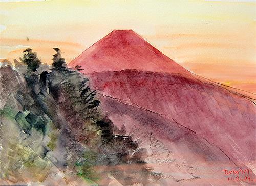 Picture1-Mt.Fuji, 100° View from Tcyausudake-rodge