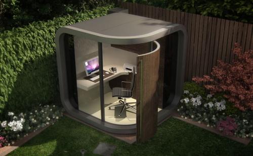ガーデンオフィス「OfficePOD」組み立て式ポッド型オフィス こりゃ売れるわ!