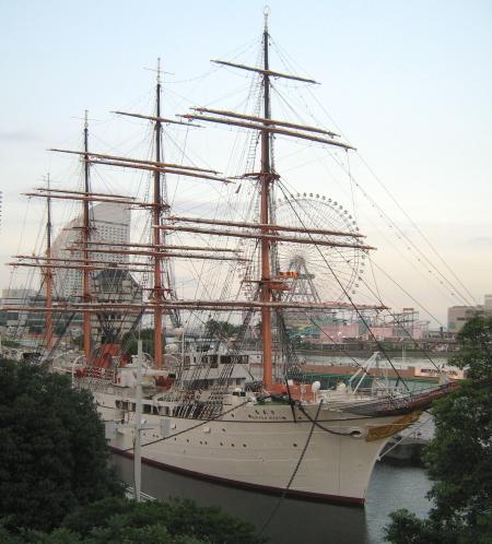 帆船 日本丸 みなとみらい21地区 横浜マリタイムミュージアム