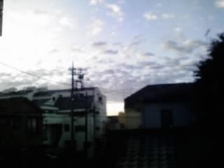 朝の空と雲