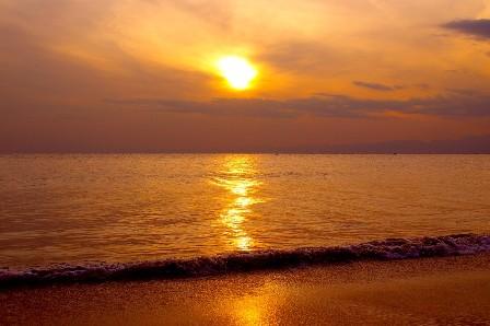 稲村ガ崎からの夕陽