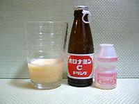 オロヤクの作り方2(ヤクルト1本分をグラスに)
