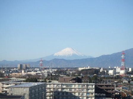 実家からの富士山