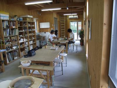 陶芸工房の様子