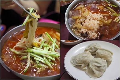 [韓国料理] [ソウル/武橋洞]リブク手作りマンドゥ店の冷やしキムチスープご飯