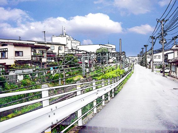 線路沿いの坂道イラスト僕の情景 懐かし僕の情景 楽天ブログ
