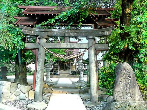 近所にありそうな神社新山神社イラスト僕の情景 懐かし僕の情景