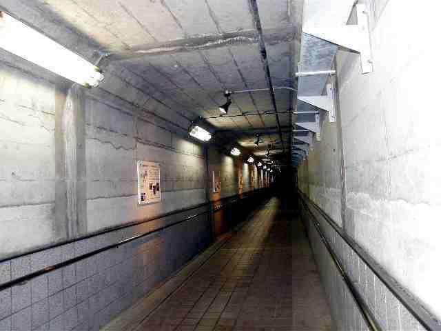 宮ケ瀬ダム内部のトンネル