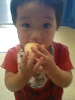 ハリネズミパンを食べる