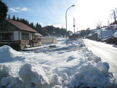 青い空!白い雪!そして寒い!