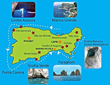 capri mappa