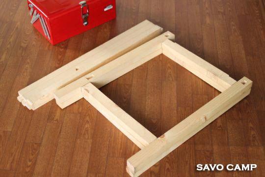 ワンアクションテーブルの棚改造