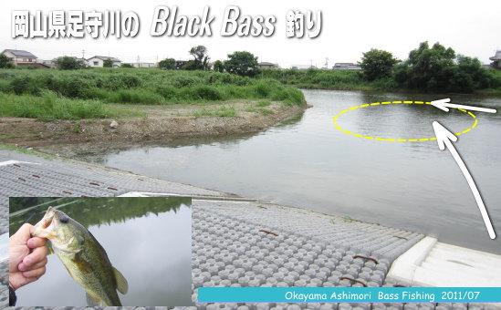 h23.07足守川のバス釣り日記