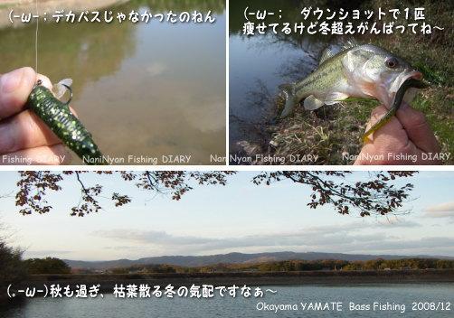h20.12岡山県の山手村、野池バス釣り日記