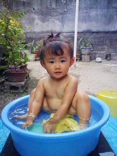 水浴び04