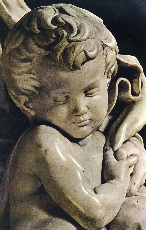 Michelangeloブルージュの聖母(部分・幼いキリスト)(1501頃)