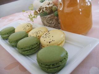 マカロン柚子&抹茶