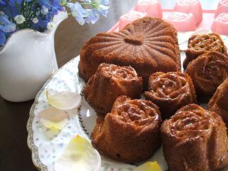 キャラメルバナナのパウンドケーキ♪
