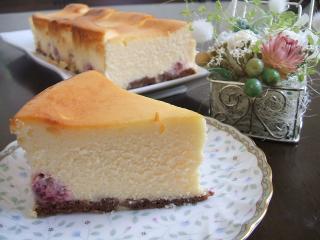 ホワイトチョコチーズケーキ♪