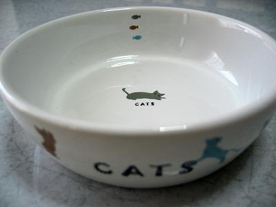 かわいいネコのお皿
