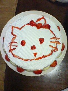 ひーちゃん2歳のバースデーケーキ