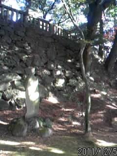 本丸を囲む石垣2