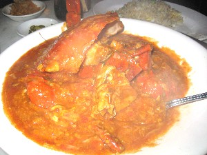 Singapore Crab with chili